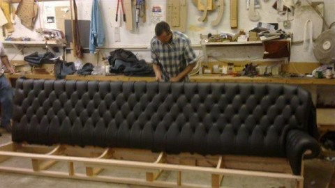 Craftsman Working On Chesterfield